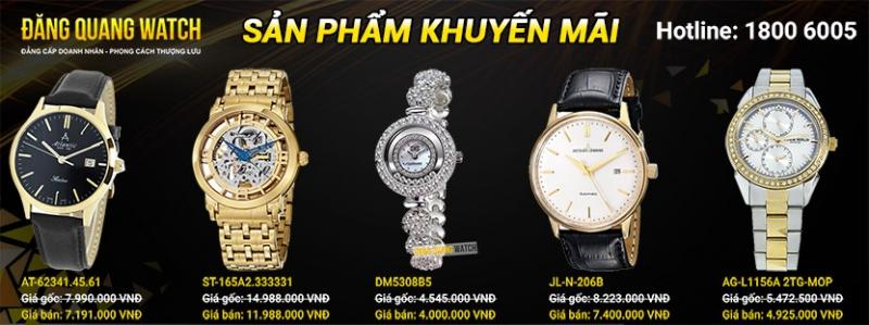 Một số mẫu đồng hồ đang khuyến mãi tại Đăng Quang