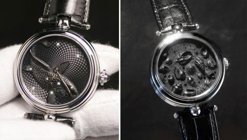 Đồng hồ được thiết kế thủ công hoàn toàn bằng tay