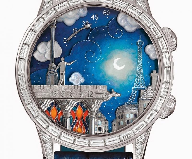 Đồng hồ được thiết kế vẽ tay với những hình ảnh tự nhiên thơ mông, thể hiện ước mơ của người đeo.