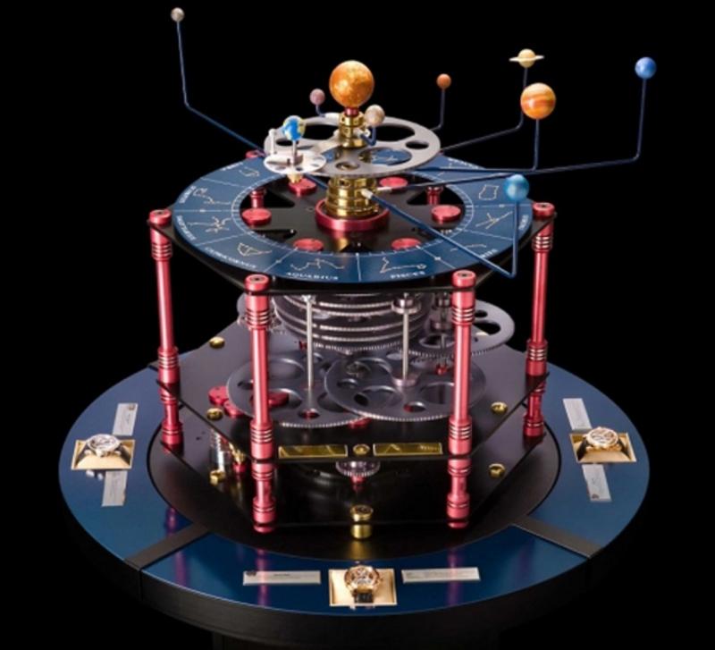 Về mặt kĩ thuật, Meteoris là chiếc đồng hồ có tới 4 tua bin riêng biệt.