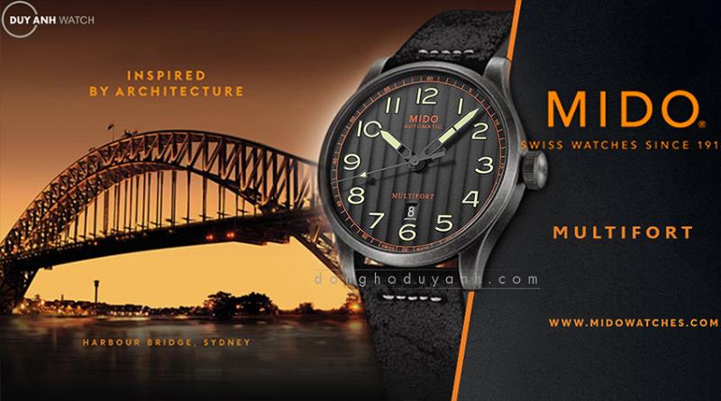 Phong cách thiết kế độc đáo, không thương hiệu nào hợp hơn Mido để trở thành đại diện cho sự đổi mới về thiết kế và những kiểu dáng vượt thời gian