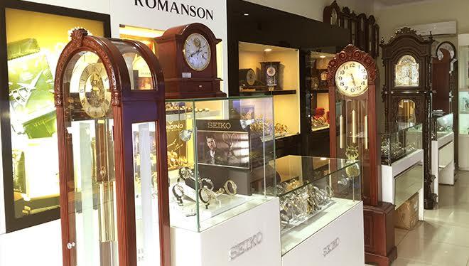 Góc trưng bày các mẫu đồng hồ Seiko