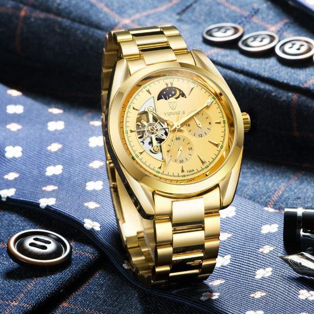 Bộ máy của đồng hồ Tevise được nhập khẩu từ Thụy Sỹ với những thiết kế thời trang và dây đeo được làm từ những chuyên gia hàng đầu.