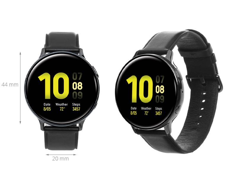 Đồng hồ thông minh Samsung Galaxy Watch Active 2 44mm viền thép dây da