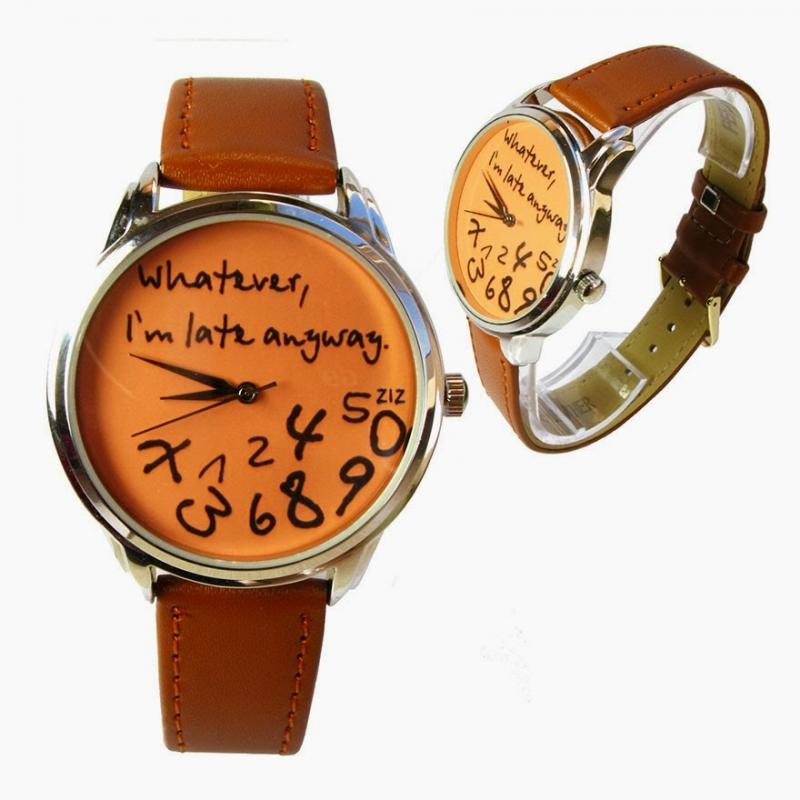 """Đồng hồ vui nhộn với slogan """"Sao cũng được! Đằng nào chẳng trễ rồi!"""""""