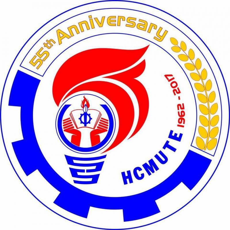 ĐH Sư phạm kỹ thuật tự chủ - logo kỷ niệm 55 năm thành lập trường.