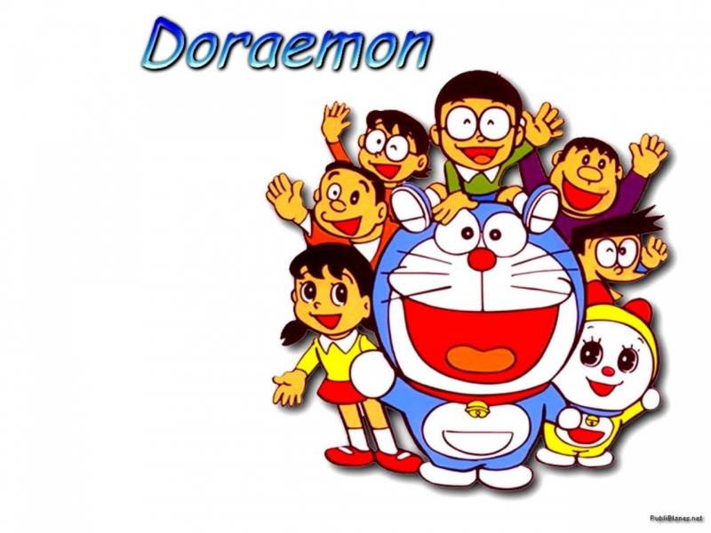 Các nhân vật chính trong Doraemon.