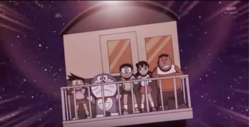 Phân cảnh nhóm bạn Nobita đi cứu những hành khách khác - Doraemon Ep 164