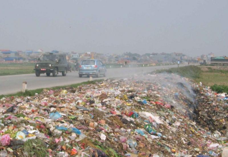 Việc đốt rác thải này làm ảnh hưởng nghiêm trọng