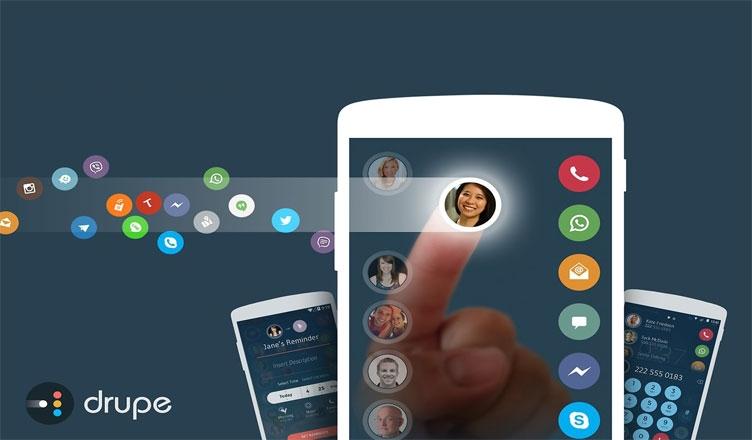 Drupe là ứng dụng danh bạ tuyệt vời cho các thiết bị chạy hệ điều hành Android