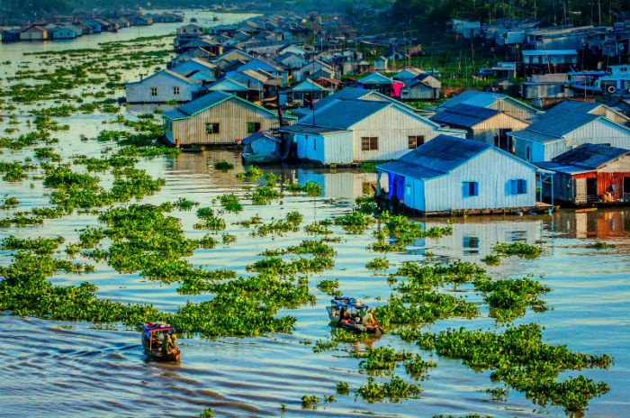 Vẻ đẹp ấn tượng của làng nổi Châu Đốc