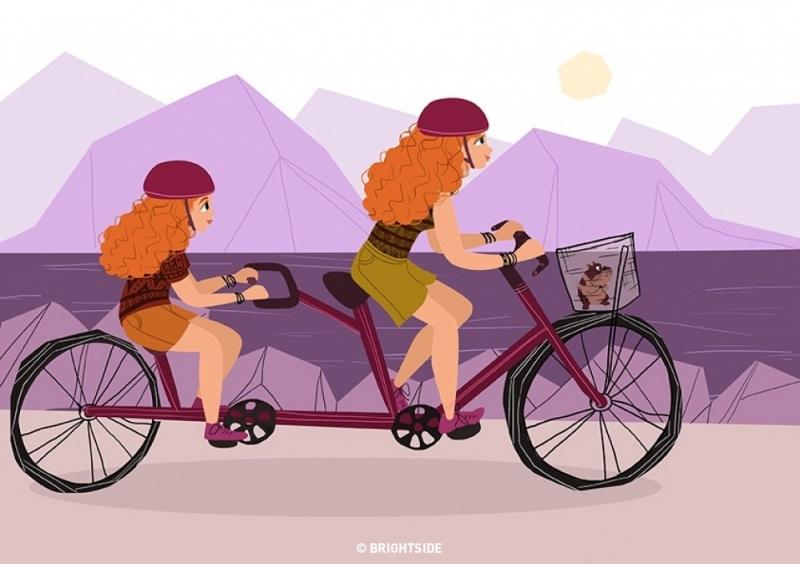 Đi du lịch cùng nhau.