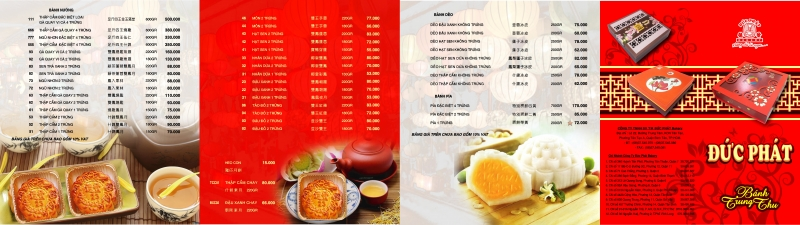 Bảng giá một số loại bánh Trung Thu 2016 của Đức Phát