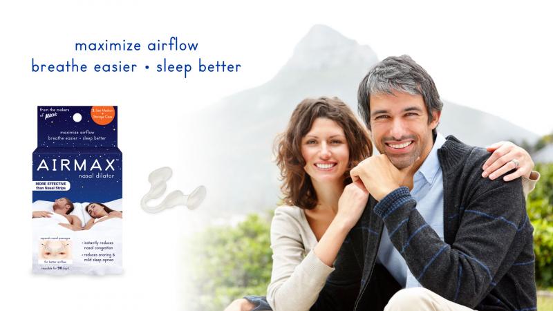 Dụng cụ chống ngáy AIRMAX™ là một sản phẩm của Mack's được thiết kế độc quyền và đặc biệt dùng cho mũi với mục đích giúp người dùng thở dễ dàng hơn, và lượng không khí lưu thông tốt hơn qua mũi