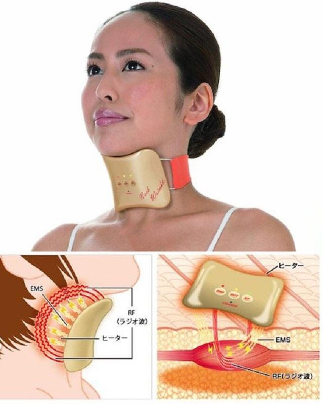 Dụng cụ làm giảm nếp nhăn vùng cổ