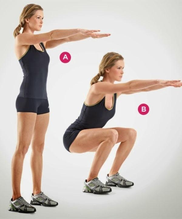 Tập động tác đứng lên ngồi xuống giúp giảm mỡ bụng