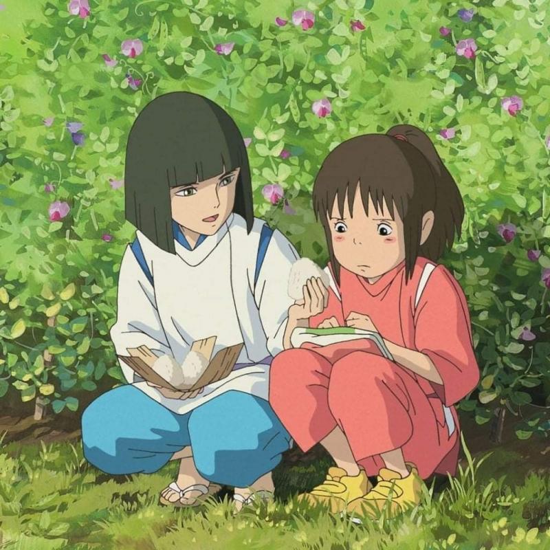 Chihiro đều lệ thuộc vào Haku kể cả việc ĂN !