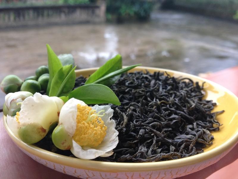 Dùng trà khô