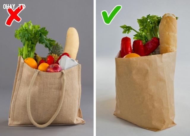 Không nên dùng túi đựng thức ăn nhiều lần