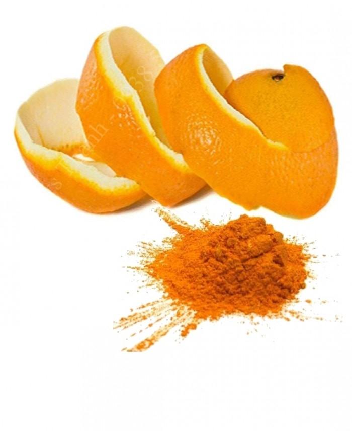 Dùng bột vỏ cam đắp lên vùng da