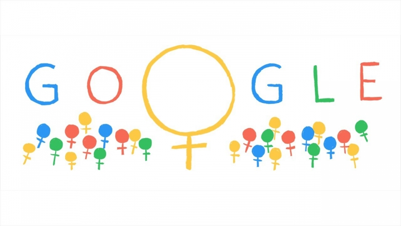 Google hưởng ứng ngày 8/3 bằng cách thay đổi logo trang tìm kiếm