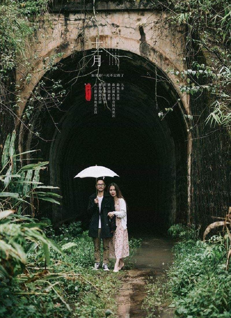 Đường hầm tàu răng cưa Đà Lạt