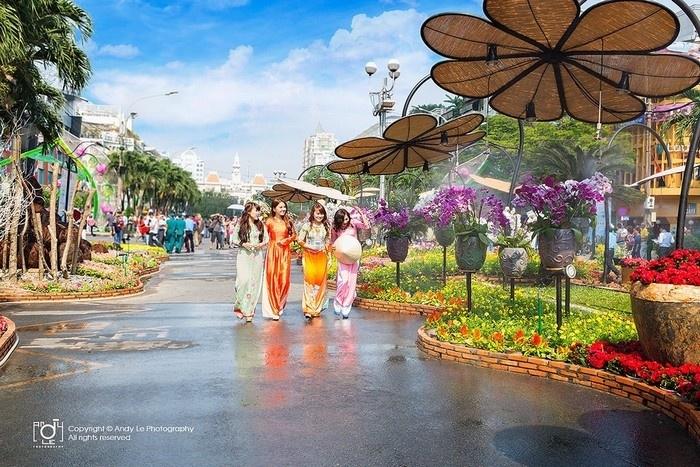 Đường hoa Nguyễn Huệ sẽ được dời sang đường Hàm Nghi