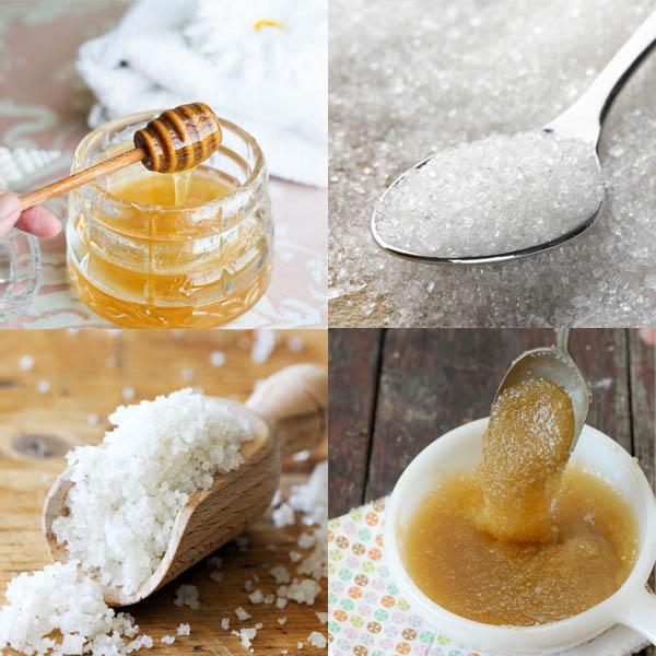 Tẩy da chết bằng đường, mật ong