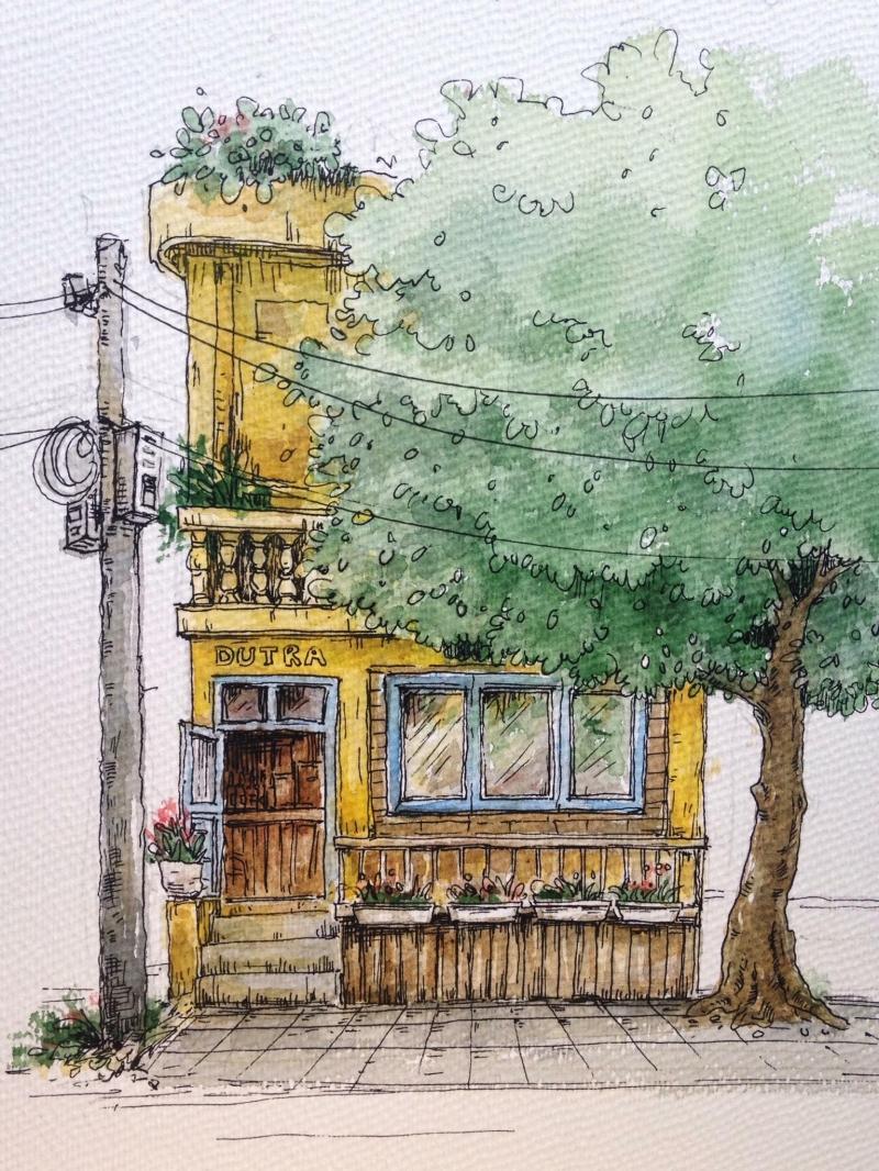DUTRA Coffee dưới nét vẽ của chủ quán