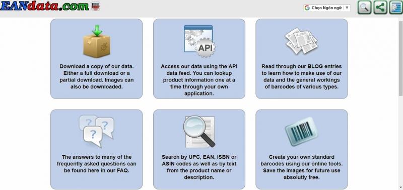EAN Data dùng được với nhiều loại mã vạch thông dụng