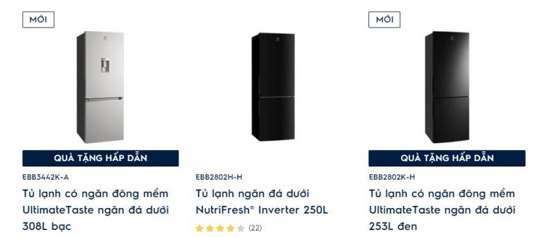 Các tủ của thương hiệu này có mức giá đa dạng, thiết kế hiện đại