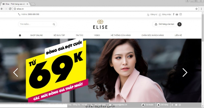 Website của Elise