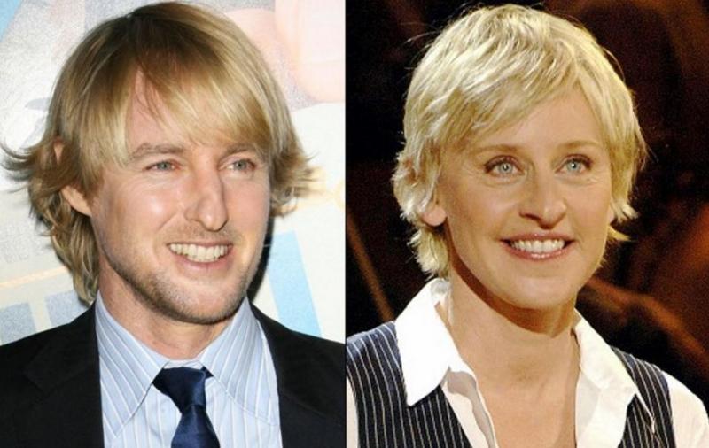 Ellen DeGeneres và Owen Wilson