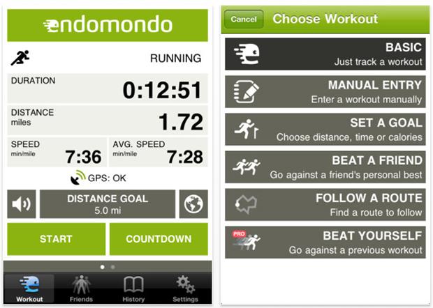Ứng dụng tập luyện Endomondo