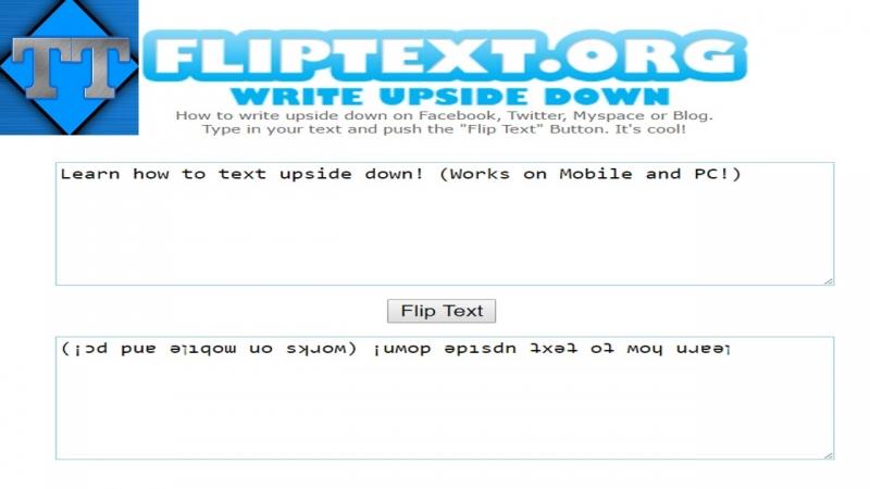 Mọi thứ mà bạn viết sẽ đảo lộn khi đến với en.fliptext.net