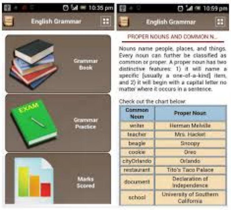 Ứng dụng học tiếng Anh trên smartphone English Grammar Book