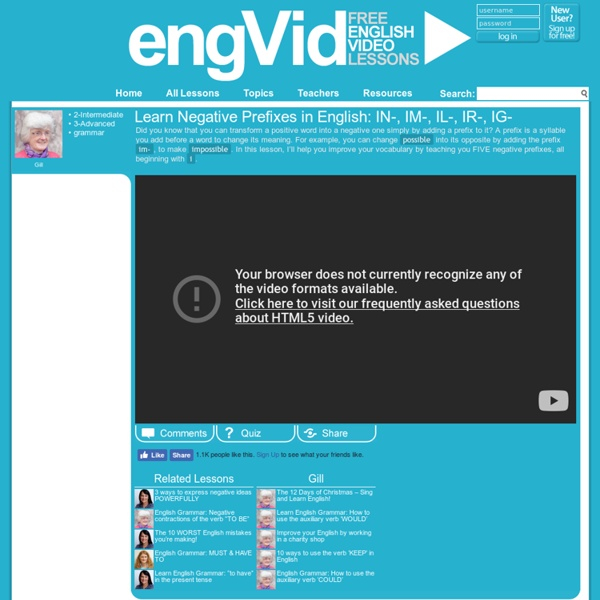 engVid – Learn English for free