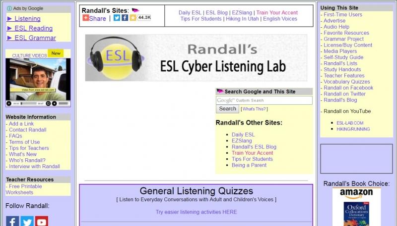 Esl-lab sẽ là trang web cực kì hữu dụng cho những ai cần luyện nghe tiếng Anh
