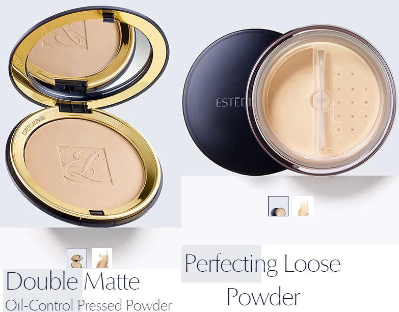 Double Matte Oil-Control Pressed Powder và Perfecting Loose Powder