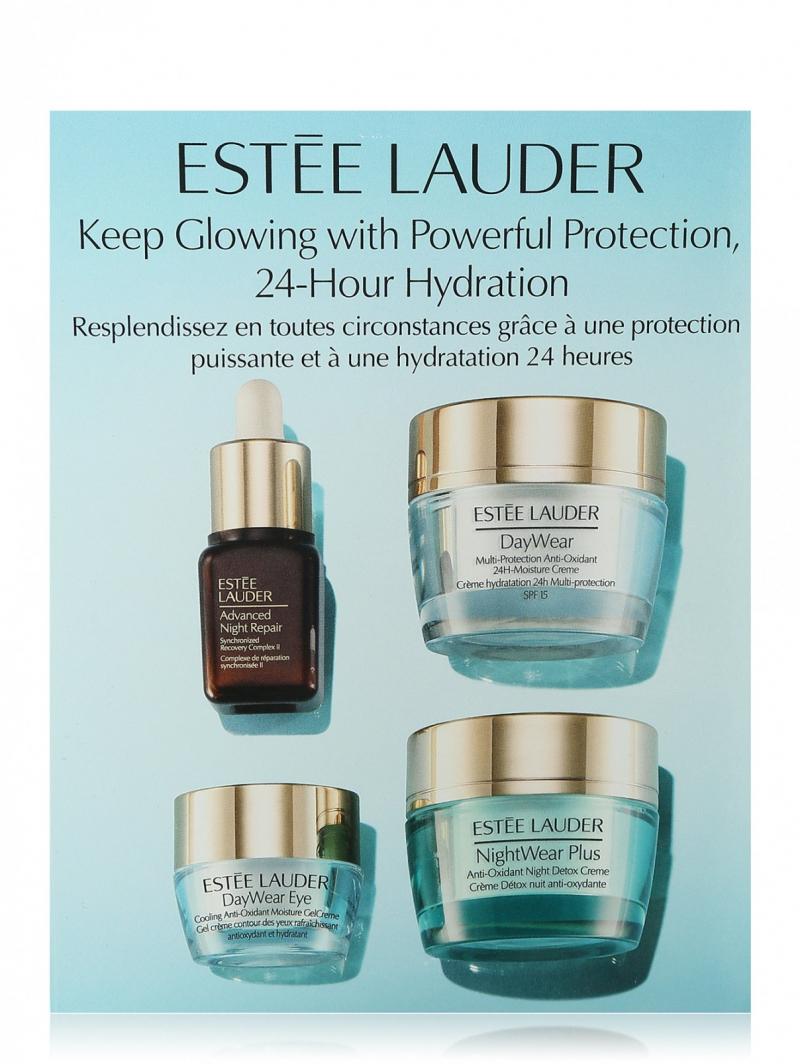 Set dưỡng da Estee Lauder Protect + Hydrate phục hồi và chống lão hóa cho da