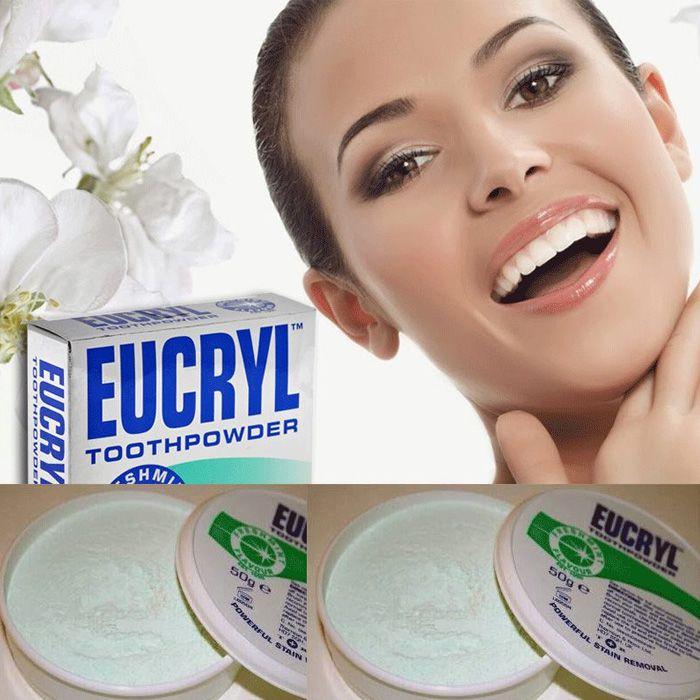 Eucryl Toothpowder có chiết xuất từ các thành phần thiên nhiên như: trà xanh, bạc hà, hương quế khá lành tính đảm bảo sự an toàn cho răng, không làm hư men răng của bạn