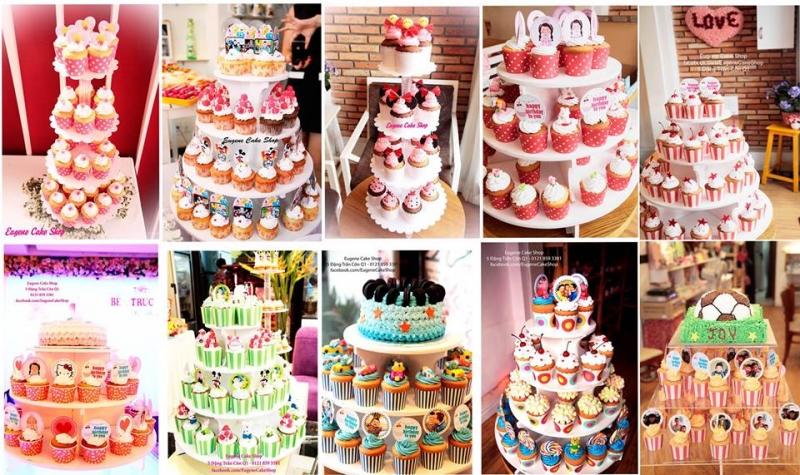 Tháp bánh cup cake cực kì đáng yêu tại Eugene Cake Shop