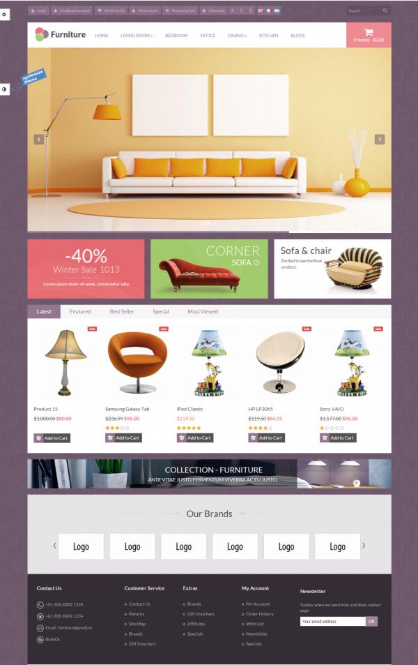 Mẫu website bán hàng nội thất chuyên nghiệp