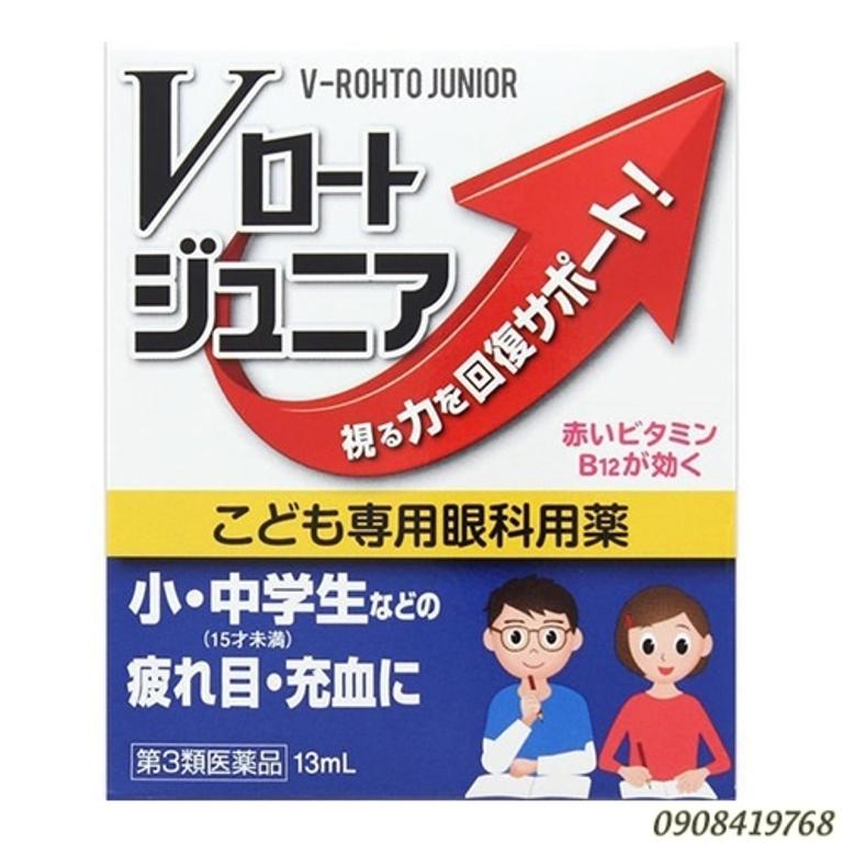 Nước nhỏ mắt V-Rohto Junio cho trẻ em