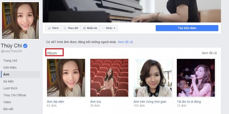 Bạn có thể lưu trữ các album ảnh trên Facebook