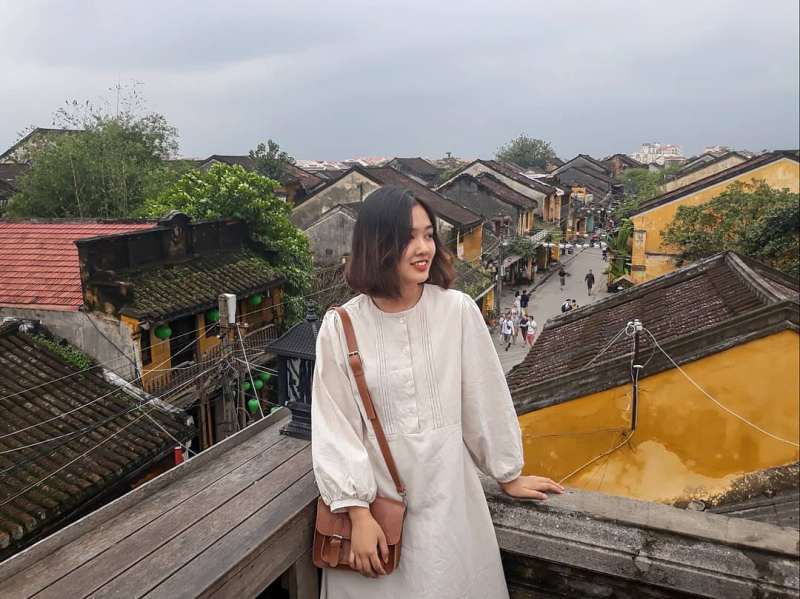 Faifo Coffe Hội An nhìn thẳng xuống con đường Trần Phú
