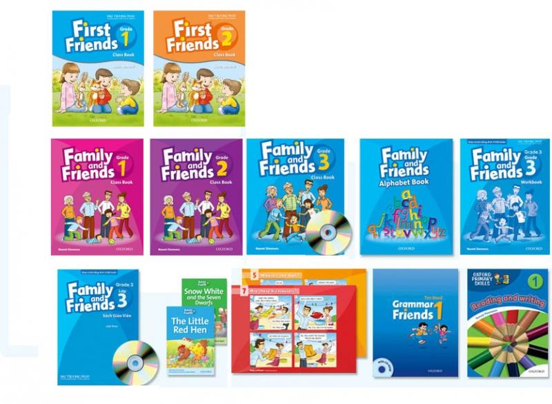 Giáo trình Family and Friends ấn bản Việt Nam kèm CD được biên soạn dành riêng cho chương trình Tiểu học