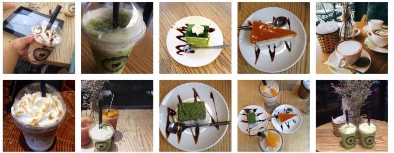 Một số đồ ăn, uống tại Feeling Coffee House
