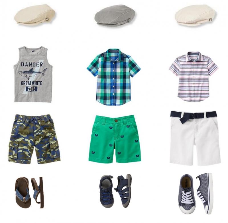 Một số quần áo và phụ kiện cho bé trai