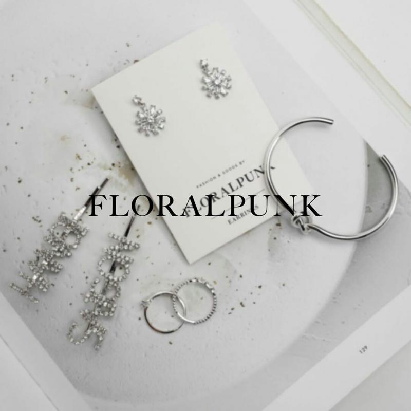 Bông tai, nhẫn, vòng tay bạc tại Floralpunk